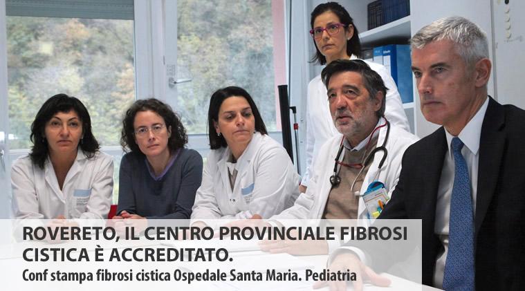 ROVERETO, IL CENTRO PROVINCIALE FIBROSI CISTICA È ACCREDITATO