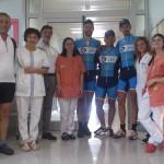 Viaggio da Firenze a Capo Nord - Fibrosi Cistica, tappa dei 'ciclomacchinisti' al'ospedale di Rovereto.